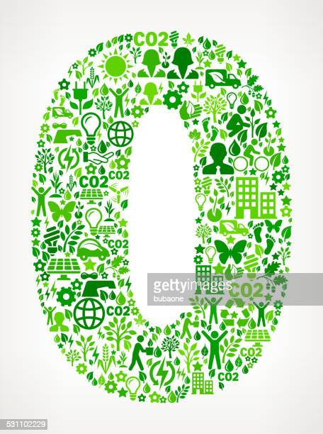 Number Zero Environmental Conservation and Nature interface icon Pattern