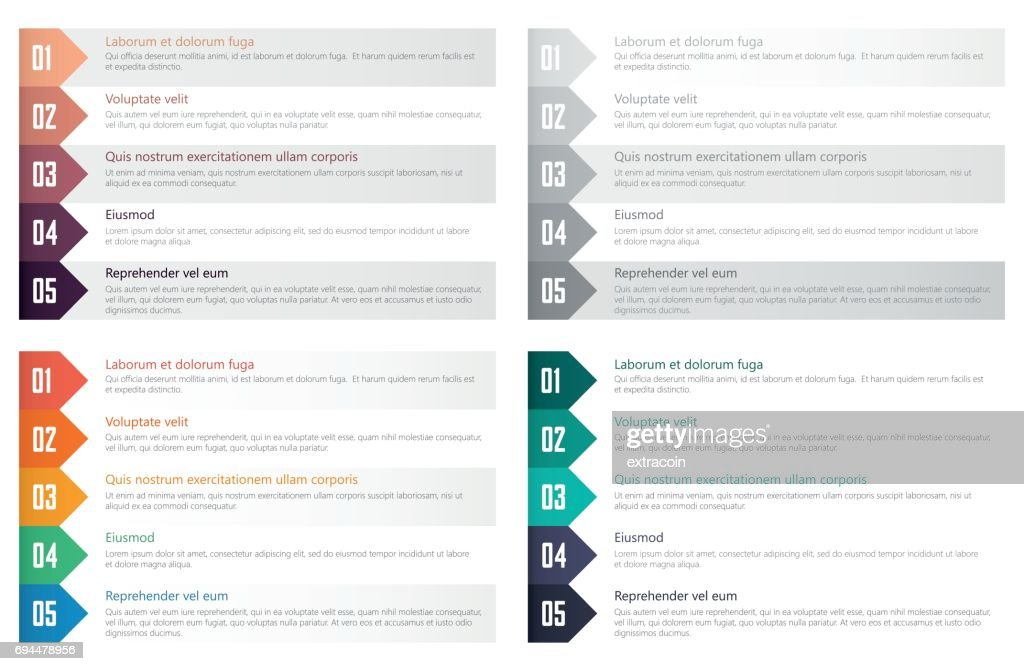 numbered list design template