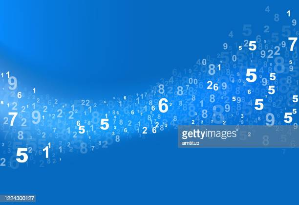 numbers curve flow - multi layered effect stock illustrations