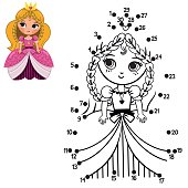 Numbers dot to dot game for children