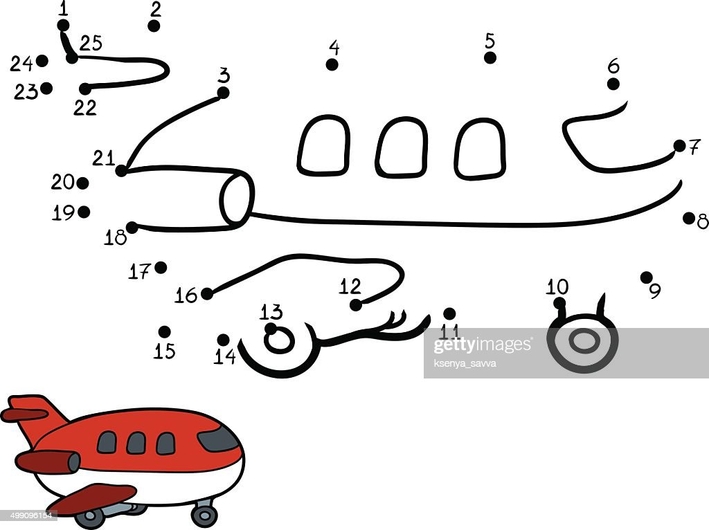 Numbers game for children: airplane