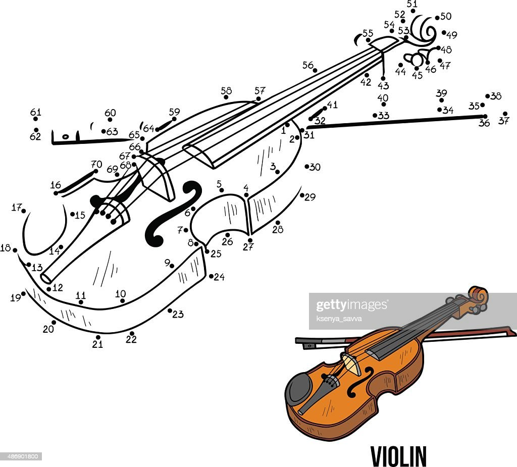 Numbers Game for children: musical instruments (violin)