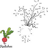 Numbers game: fruits and vegetables (radish)