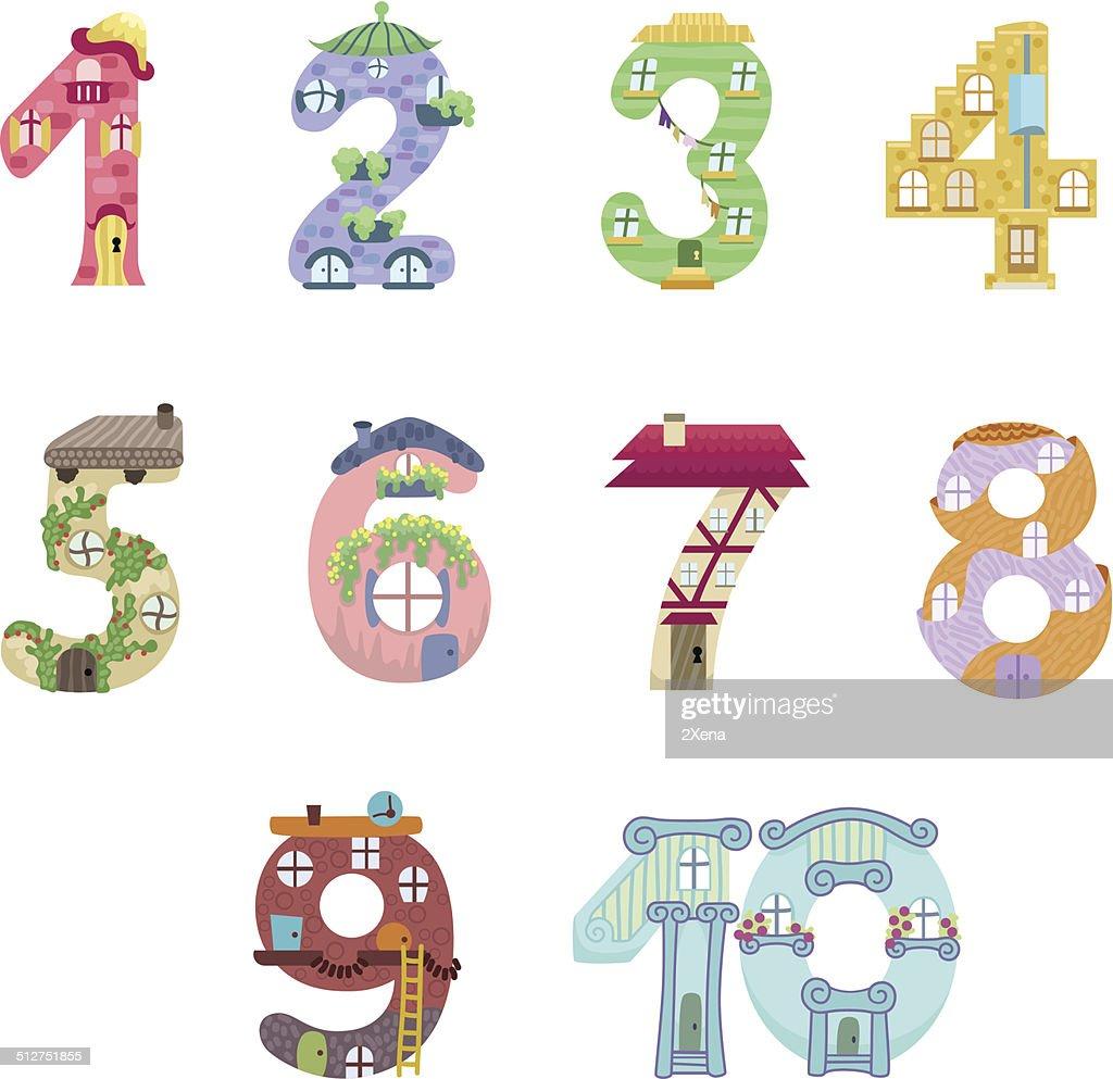 Numbers like fairy houses