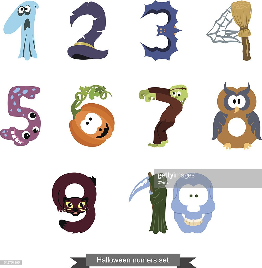 Numbers Like Symbols Of The Halloween Vector Art Getty Images