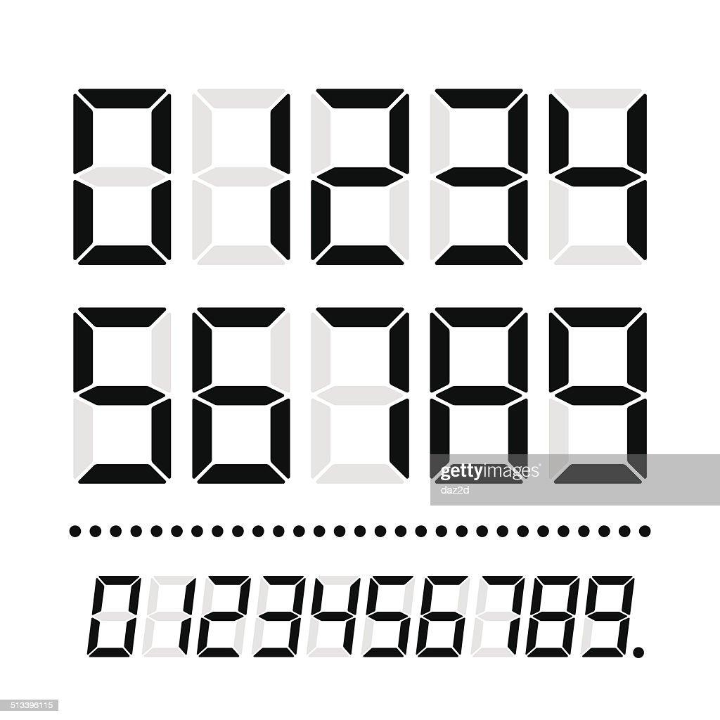 LED Numbers On White : stock illustration