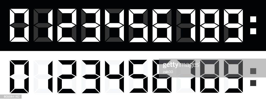 LED Numbers : Stock Illustration