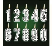 numeral soccer birthday candles