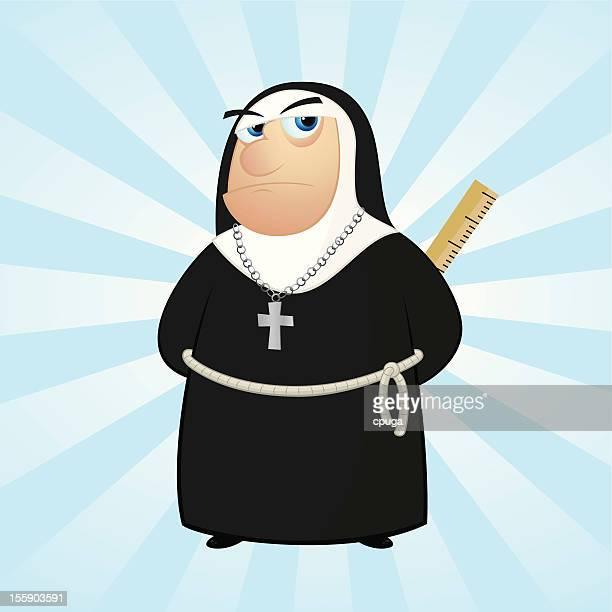 Nun with Ruler