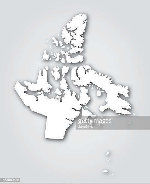 Nunavut Silhouette Weiß