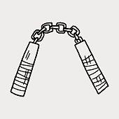 nunchaku doodle