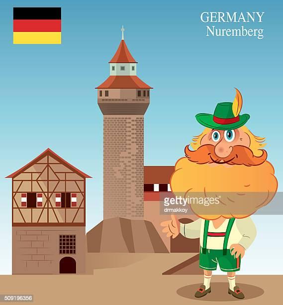 nuremberg - tower stock illustrations