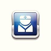 Nurse Blue Vector Icon Button