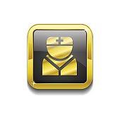 Nurse Gold Vector Icon Button