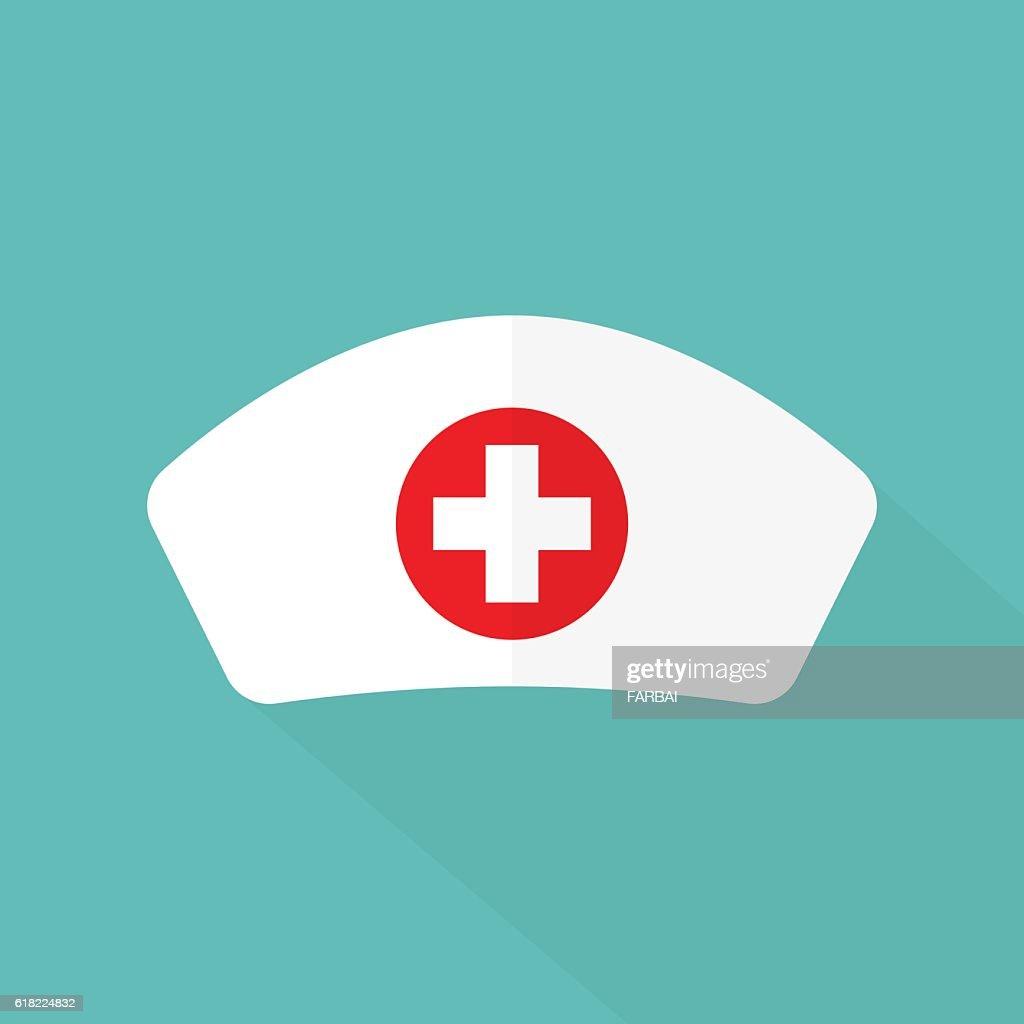 Nurse hat flat design