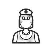 nurse icon, old clothe style