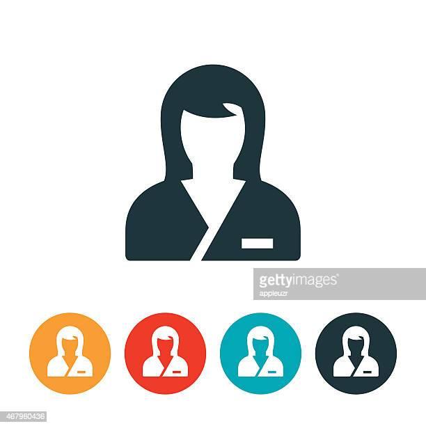 ilustraciones, imágenes clip art, dibujos animados e iconos de stock de icono de enfermería - asistente de enfermera