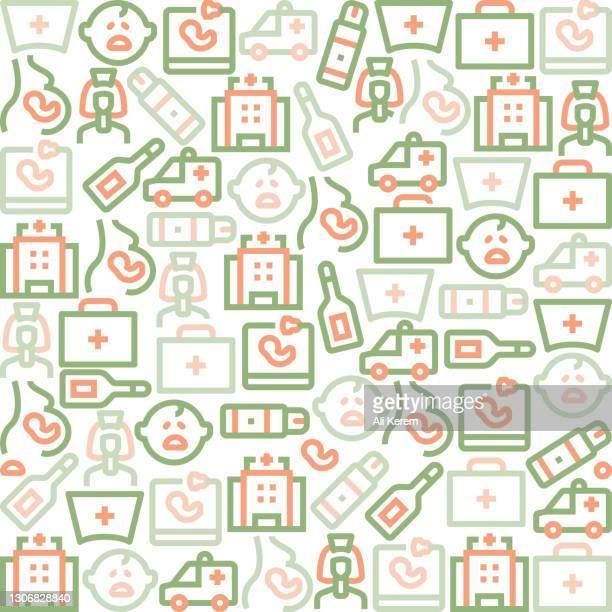 ilustraciones, imágenes clip art, dibujos animados e iconos de stock de patrón de enfermera y partería - asistente de enfermera