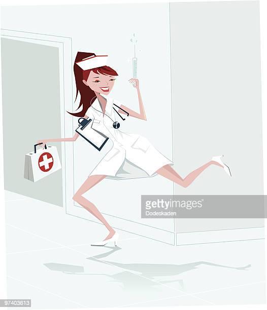 Enfermeira em movimento