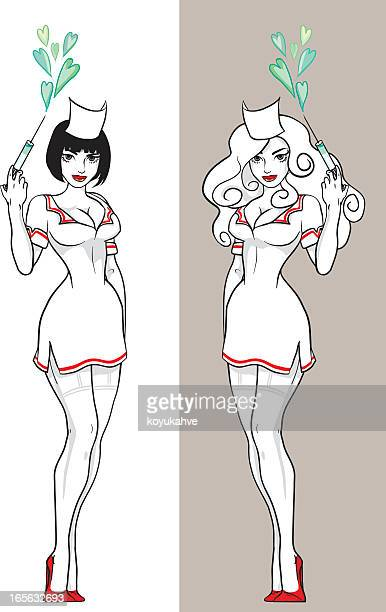 nurse - sexual fetish stock illustrations, clip art, cartoons, & icons