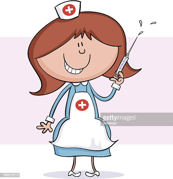 nurse - injecting stock illustrations, clip art, cartoons, & icons