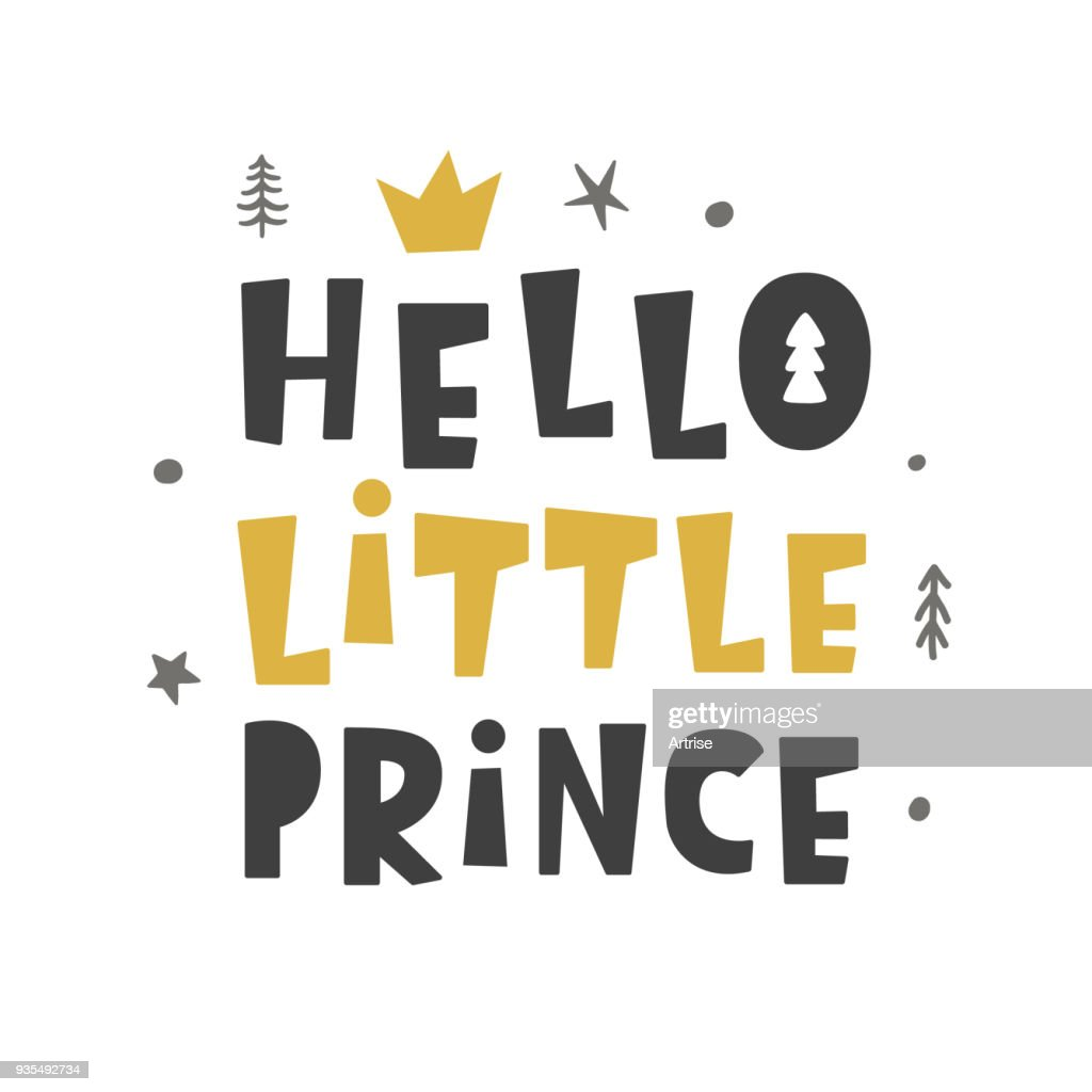 Nursery print. Hello Little Prince. Scandinavian style