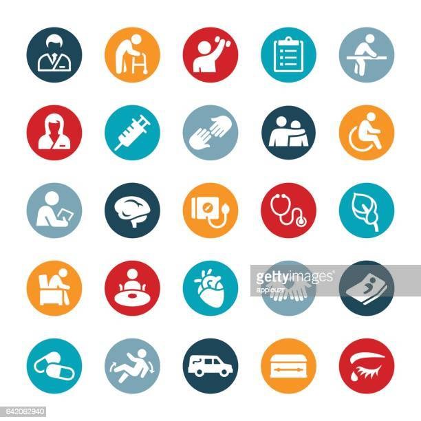 Nursing Home and Hospice Icons