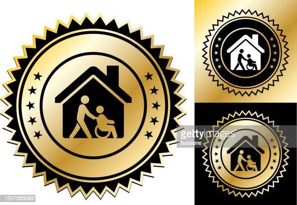 老人ホーム アイコン - ホスピス点のイラスト素材/クリップアート素材/マンガ素材/アイコン素材