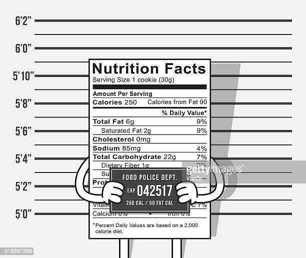 Nutrition Label calories diet criminal mugshot