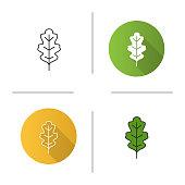 Oak leaf icon