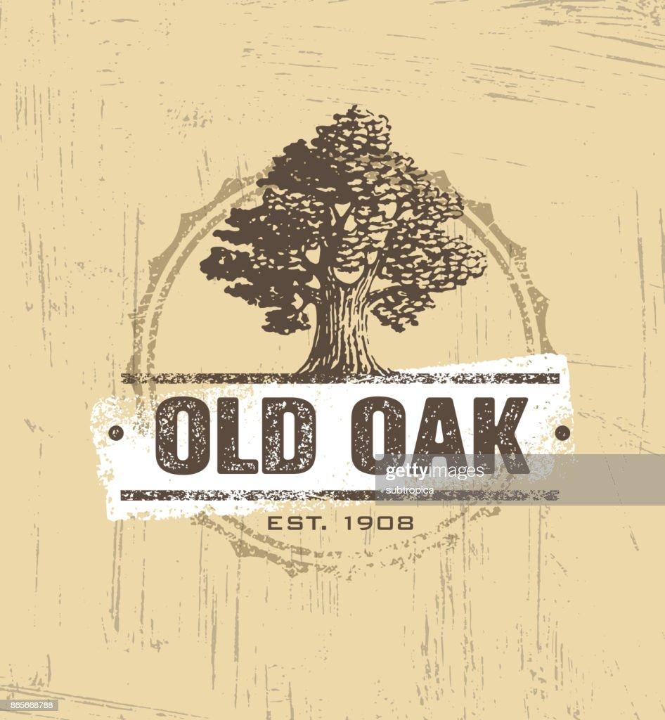Oak Tree Logo Vector Design