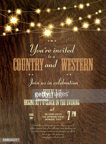 Country and western invitation design template string lights keywords stopboris Image collections