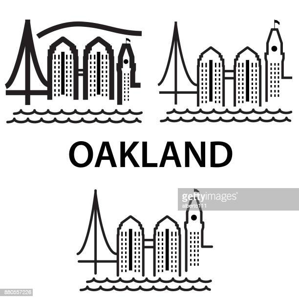 Oakland California Chunky style cityscape