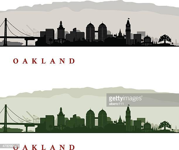 oakland california cityscapes - oakland california stock illustrations