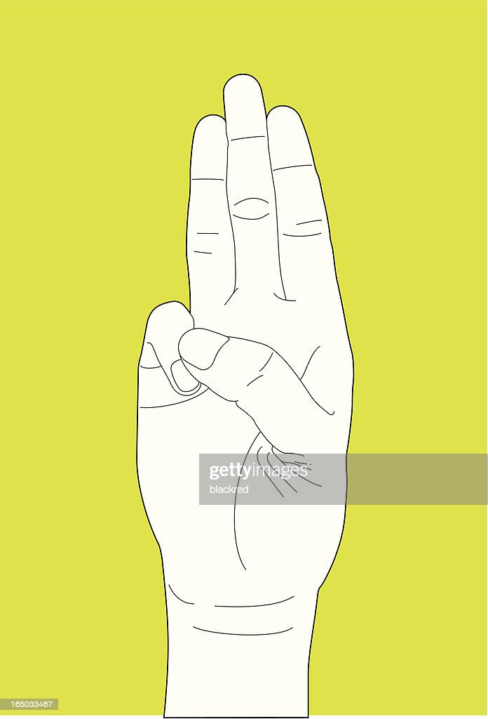 Oath Hand Gesture Vector Art Getty Images