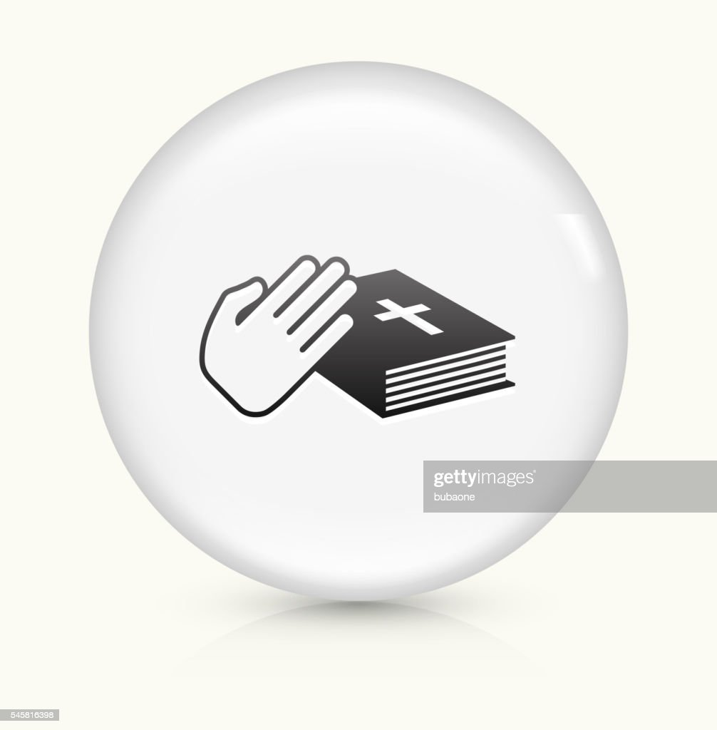 Oath icon on white round vector button