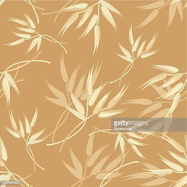 ilustraciones, imágenes clip art, dibujos animados e iconos de stock de patrón de avena - grano planta