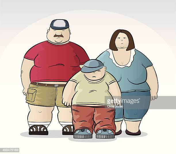 obese family - heavy stock illustrations, clip art, cartoons, & icons