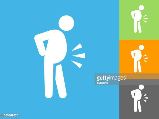 obesity  flat icon on blue background - unhealthy living stock illustrations, clip art, cartoons, & icons