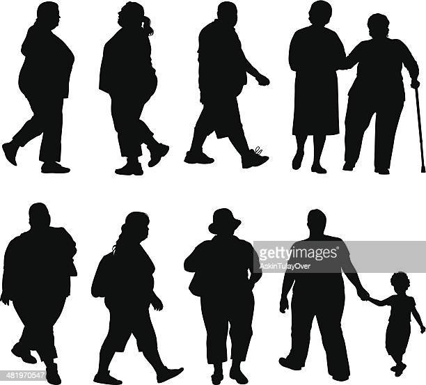 obesity - dieting stock illustrations, clip art, cartoons, & icons