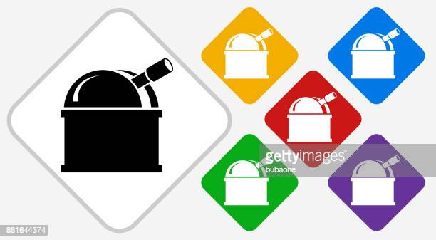 Observatory Color Diamond Vector Icon