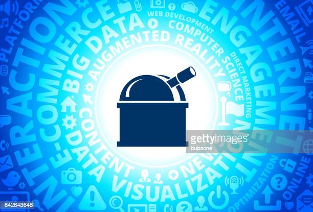 Observatory Icon on Internet Modern Technology Words Background