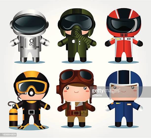 occupation icon - race car driver stock illustrations, clip art, cartoons, & icons