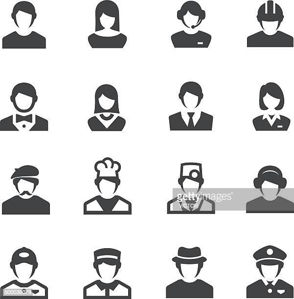 occupation icons - acme series - white collar worker stock illustrations, clip art, cartoons, & icons