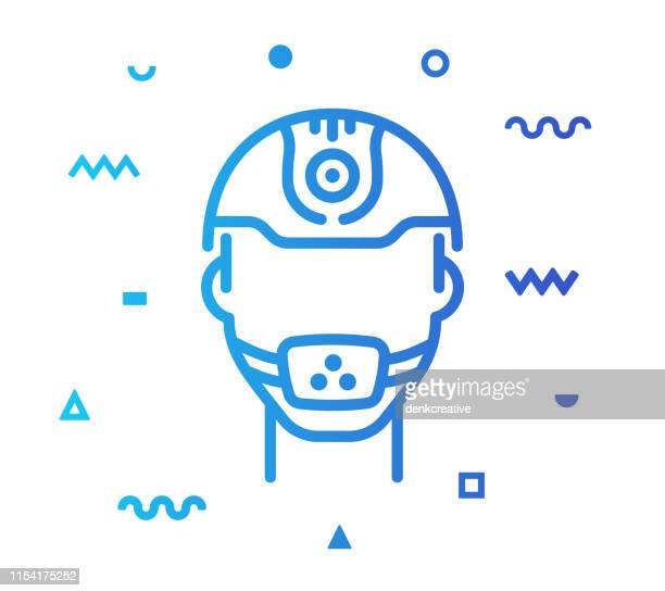 occupational safety & health line style icon design - occupational health stock illustrations, clip art, cartoons, & icons