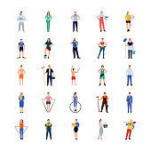 Occupations Flat Icons Pack