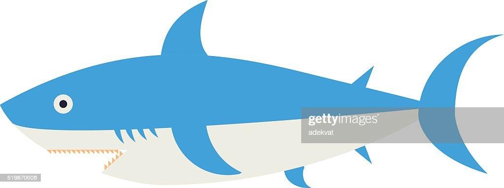 Ocean animal design of cartoon shark vector illustration