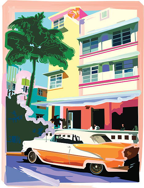 Ocean Drive Hotel with Roadster
