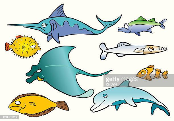 ocean fishes - anemonefish stock illustrations, clip art, cartoons, & icons