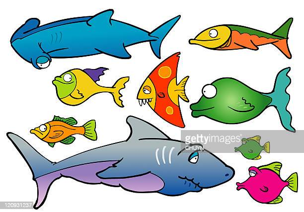 ocean fishes - butterflyfish stock illustrations, clip art, cartoons, & icons
